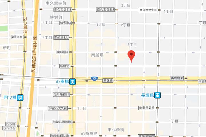 07-rakuten-stay-hostel-art-cafe-bar-osaka-shisaibashi-map