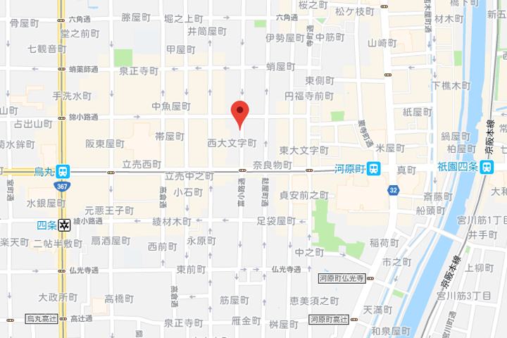 10-grids-kyoto-shijo-kawaramachi-hotel-hostel-map