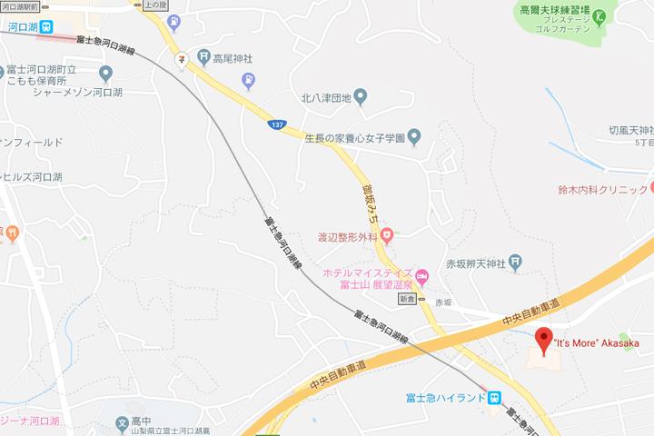 kawaguchiko-supermarket-shop-akasaka-map