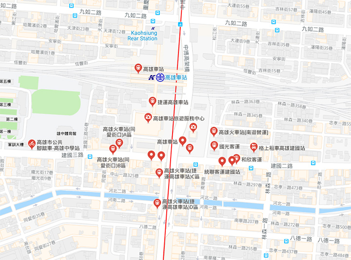 kaohsiung-station-map