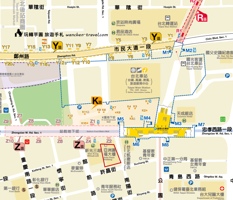 taipei-station-hotel-map