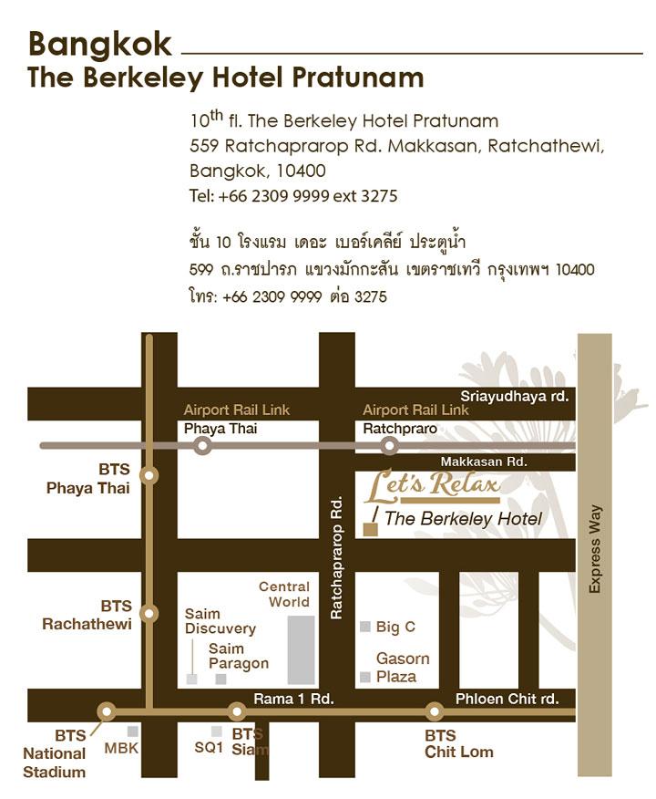 Let's Relax Berkeley Map