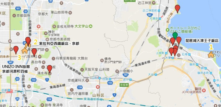 Summer Kyoto Hotel Location
