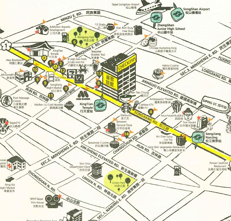 雀客旅館地圖