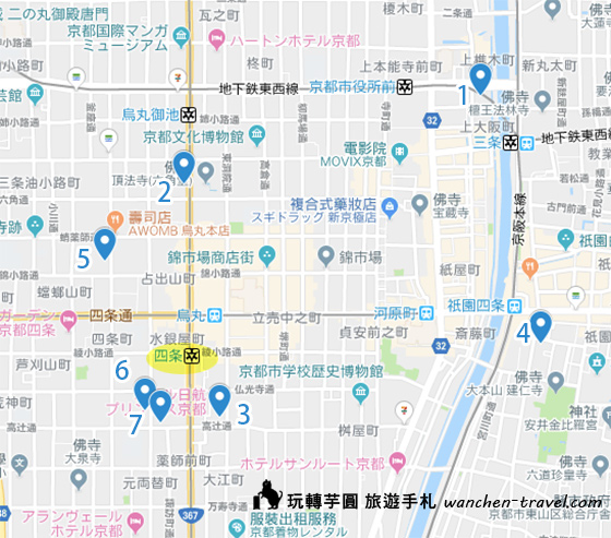relux-kyoto-shijo-hotel-map