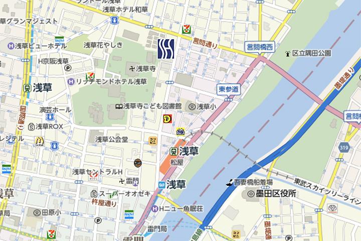 super-hotel-asakusaa-map