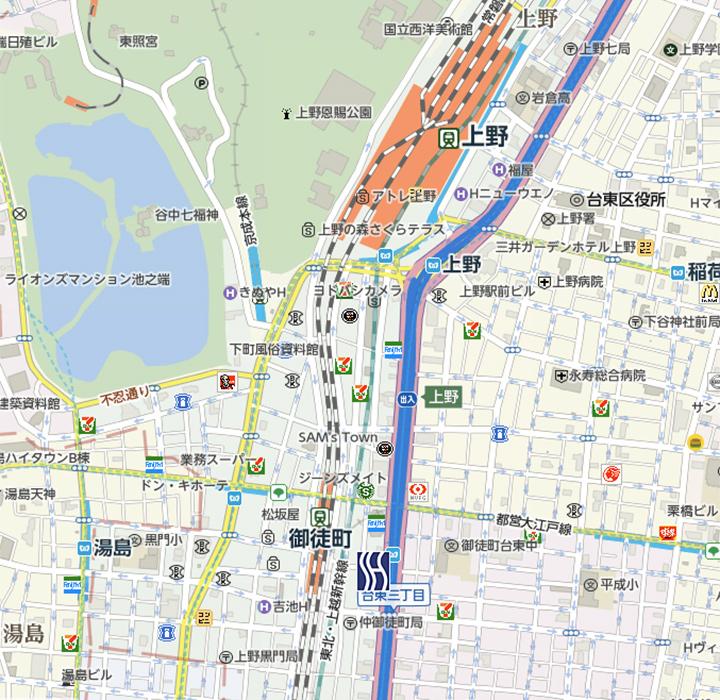 super-hotel-ueno-map