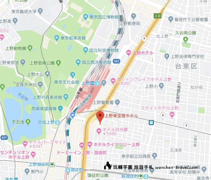 ueno-touganeya-hotel-map