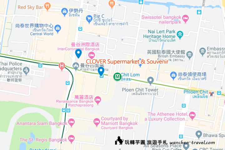 clover-pharmacy-souvenir-bangkok-map