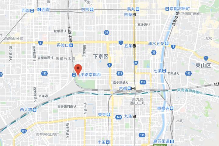the royal park kyoto umekoji map
