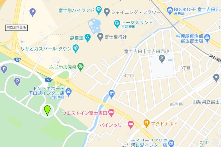 自在富士溫泉地圖