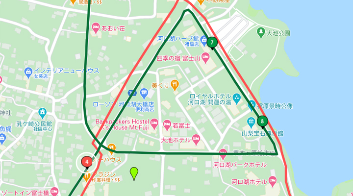 富士河口湖大橋東橫INN地圖
