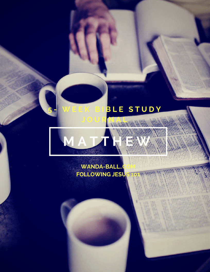 Following Jesus 101: Gospel of Matthew - 5-Week Bible Study Plan Challenge