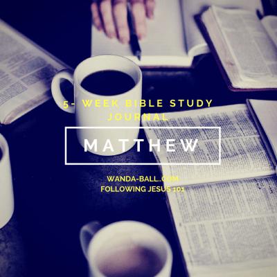 Following Jesus 101: Gospel of Matthew Bible Study Challenge Intro & Free Stuff