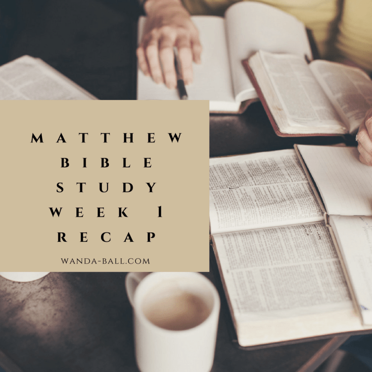 matthew bible study week 1 recap