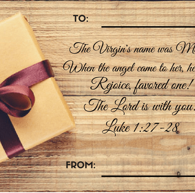 (FREE) Simple Christmas Tags with Bible Verses
