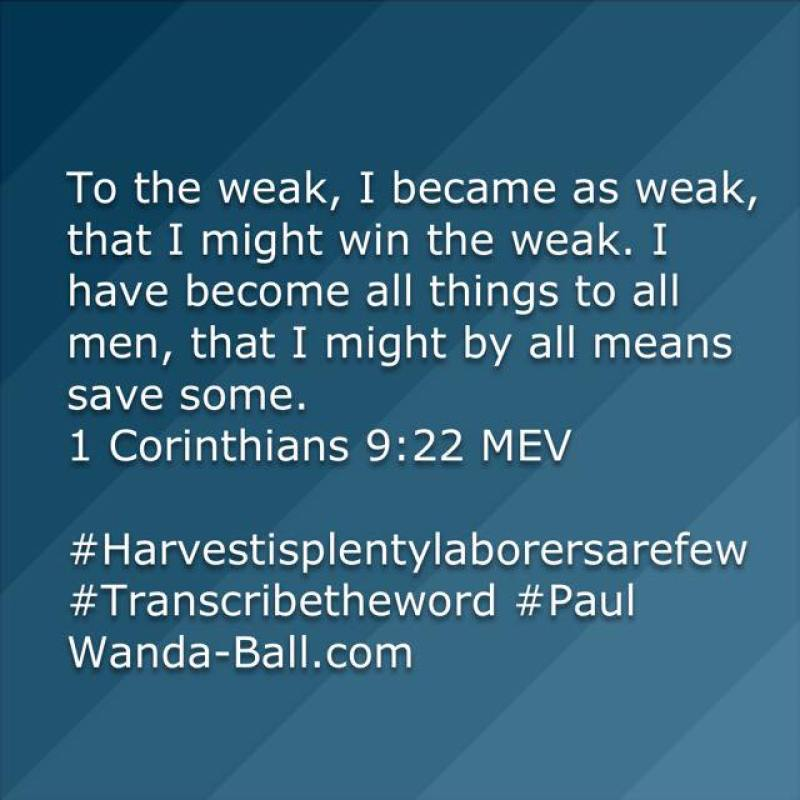 1 corinthians 9:22 Paul