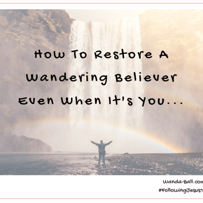 How To Restore A Wandering Believer Even When It's You…