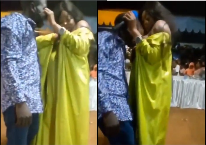 Female Pastor Giving Breast Milk To Male Members For Deliverance