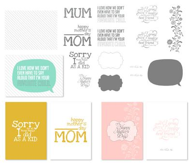 For Mom Greeting Card Templates Digital Download  133476  Price: $2.95