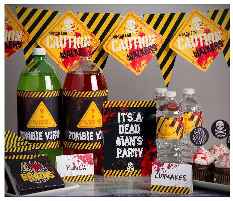 Zombie Party Printables - Digital Download 135713 ~ Price: $9.95