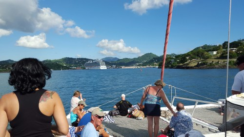 A view from the Catamaran ride on our St. Lucia excursion.