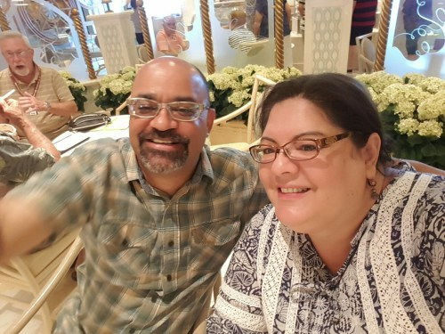 My husband Darren & I after enjoying a delicious gelato!