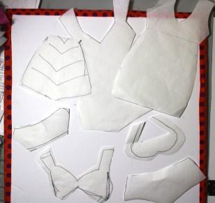 swimsuits freezer paper