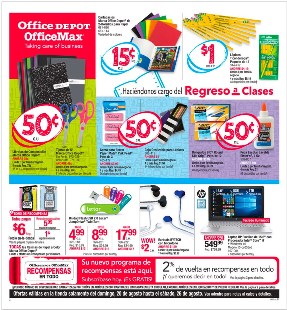 SHOPPER OFFICE DEPOT & OFFICE MAX