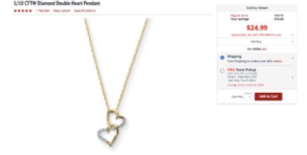 Hermosa cadena con diamantes