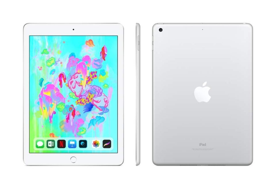 AMAZON  Apple iPad (Wi-Fi, 128GB) – Silver (Latest Model) $379
