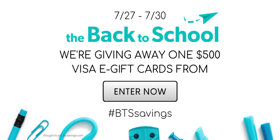 BTS SAVINGS GIVEAWAY