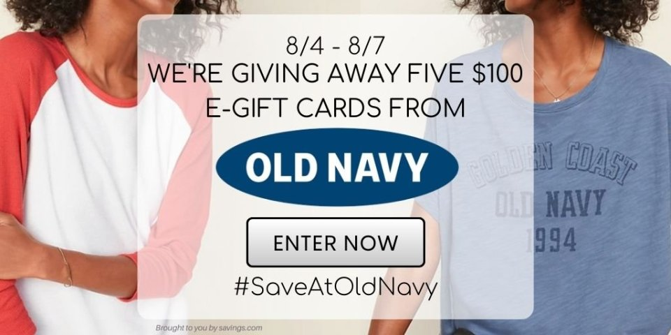 SAVE AT OLD NAVY GIVEAWAY
