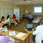 Mark Collett runs a workshop for mediators in Durban.