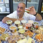 Dino Constantinou with his Mediterranean dips