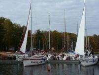 Small boat harbor Masuria.