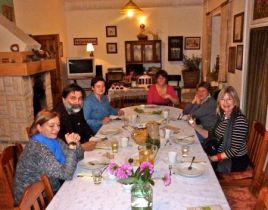 Dinner with Renata Bukowska and hosts at W Aroniach in the Lanckorona district.