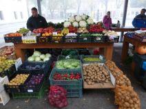 Chełmno fresh produce market.