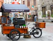 Toruń coffee cart.