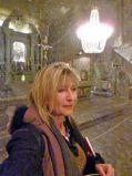 Selfie inside Wieliczka Salt Mine where there's a pretty good restaurant.