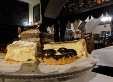 Jama Michalika restaurant breakfast pastry selection.