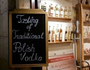 Traditional vodka tastings in Krakow.