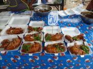 Chicken at Kamala market.