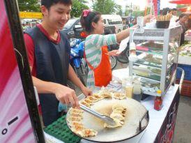 Saturday night food market fare in Chiangmai.