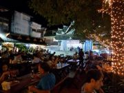 Dining in the casual section of Chiang Ria's night market.