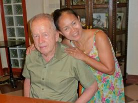 Berkeley artist Terry St. John and Buppha at home in Chiangmai.