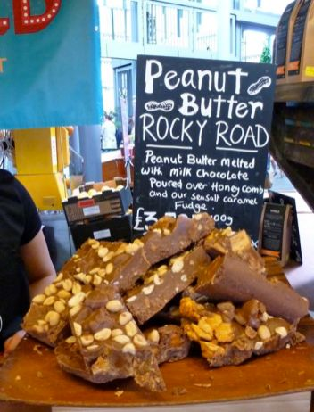 Sweet delights at the Borough Market, London.