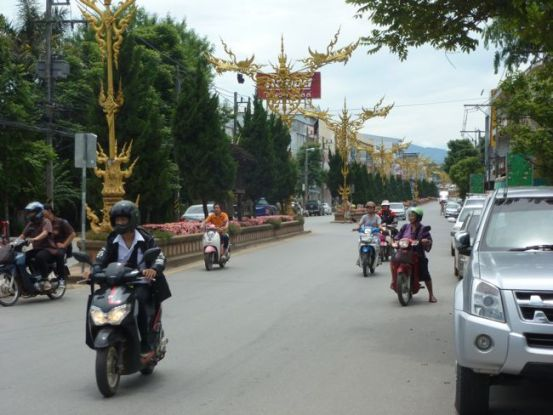 The main street Chiang Rai.