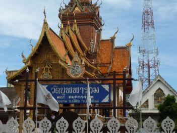 Wat Bupparam on Th Tha Phae view.