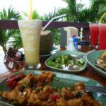 Beach Restaurant Thong Krut crispy calamari.
